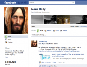 Jesus as Facebook's Most Liked?
