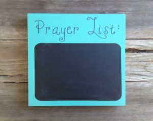 Prayer Lists & Privacy