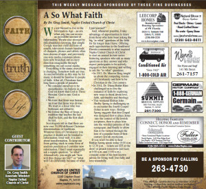 "A ""So What"" Faith"